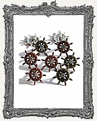 Ship Wheel Brads - 12 Piece