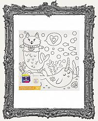 Young Artists - MerCat and Narwhal Canvas Painting Kit - Includes Paints and Brush