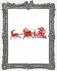Miniature Santa Sleigh with Reindeer