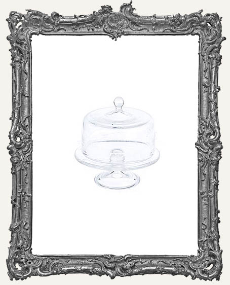 Miniature Clear Glass Cake Stand