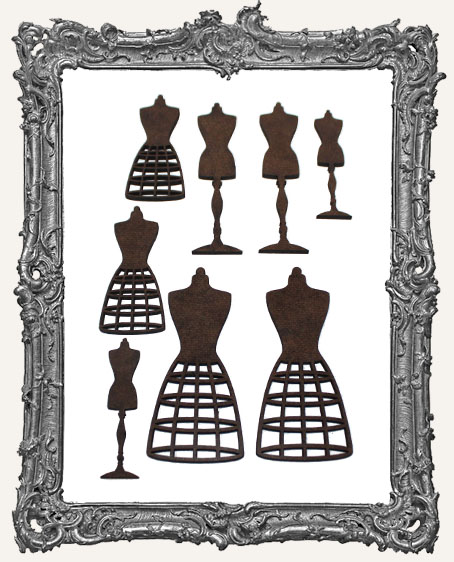 Dress Form Cut-Outs - 8 Pieces