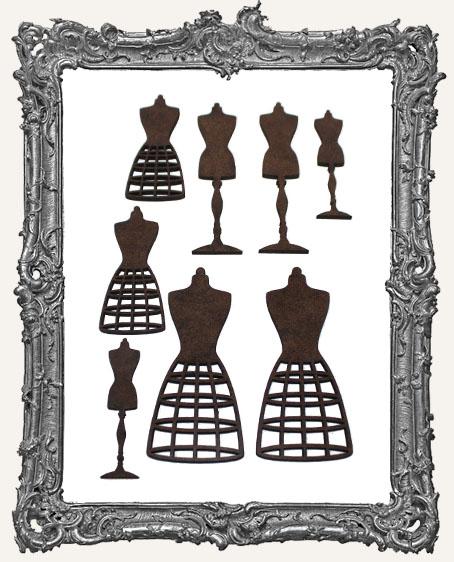 Dress Form Cut-Outs - 8 Pieces