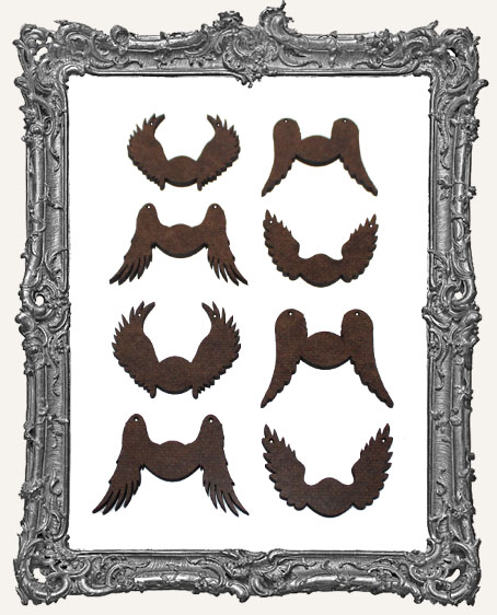 Small Angel Wing Cut Outs - 8 Pieces