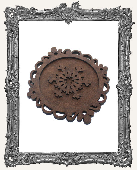Layered Cameo Frame Silhouette Ornament - Snowflake