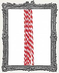Wired Chenille Stems - 8mm - Red and White Candy Cane Twist - 10 Pieces