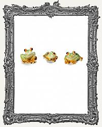 Miniature Resin Frogs - 1 Inch - 3 Pieces