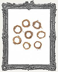 Miniature Grapevine Wreath - 1 Inch - Pack of 8
