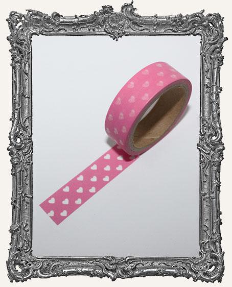 Washi Tape - Bubblegum Pink Hearts