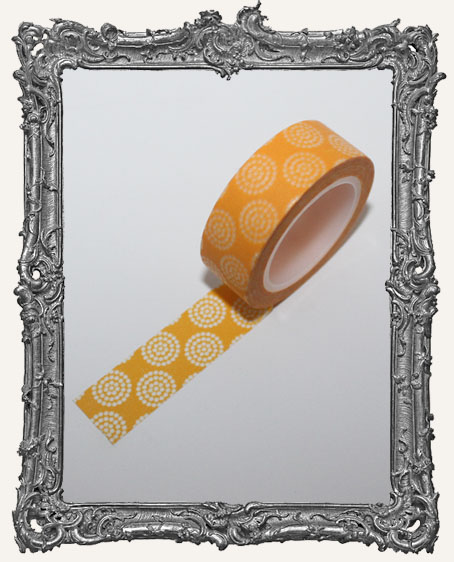 Washi Tape - Dark Yellow Circle Fun Dots
