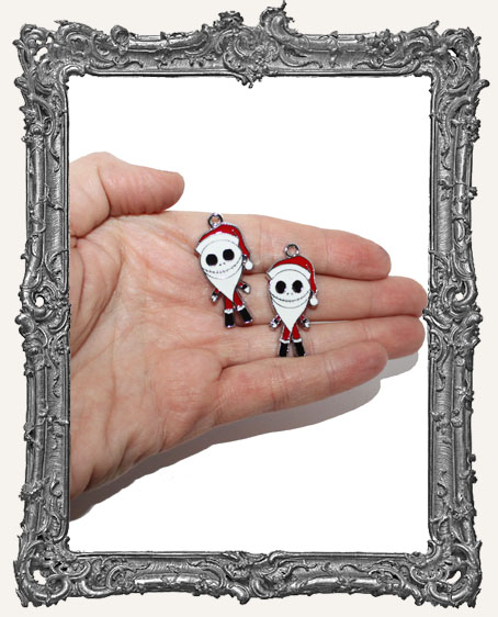 The Nightmare Before Christmas Santa Enameled Charms - Set of 2