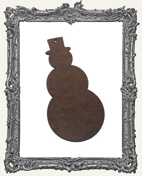 Masonite Snowman Ornament
