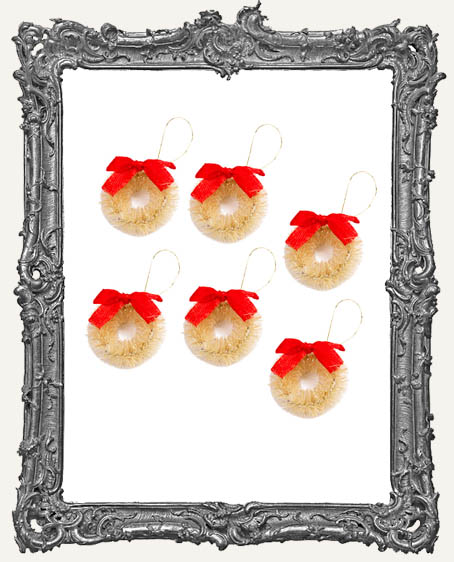Mini Natural Sisal Wreath - 6 Pieces