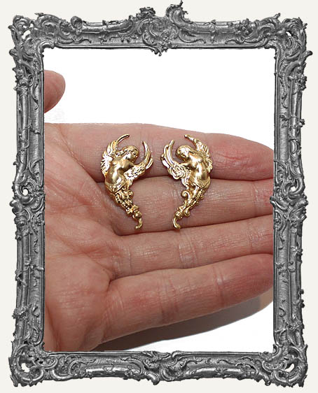Brass Venus Goddess Charms - Set of 2