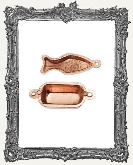 Miniature Cast Copper Jello Mold Plates