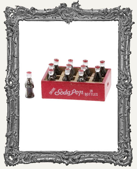 Miniature Cola Case with 12 Cola Bottles