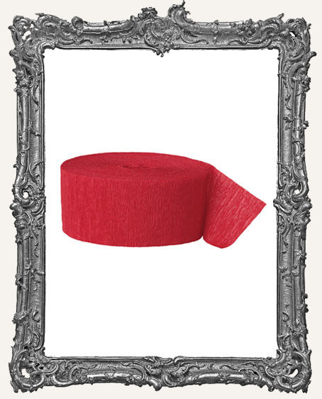 Crepe Paper Streamer - Red