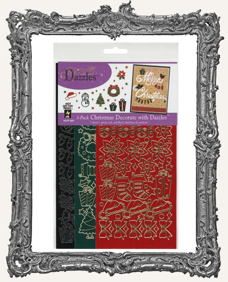 Dazzles Stickers - Christmas 3 Pack