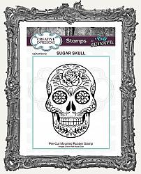 Creative Expressions Cling Mounted Rubber Stamp by Andy Skinner - Sugar Skull