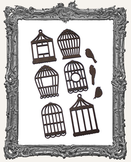Bird Cage Cut-Outs - 6 Pieces