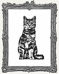 Cling Mounted Rubber Stamp - Sitting Cat