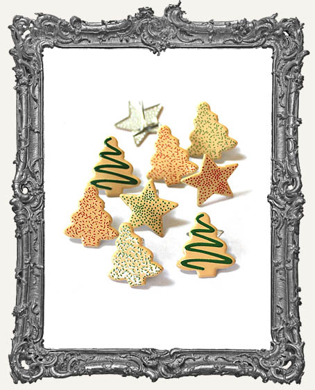 Christmas Cookie Brads - 12 Piece