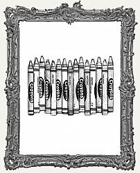 Cling Mounted Rubber Stamp - Crayons