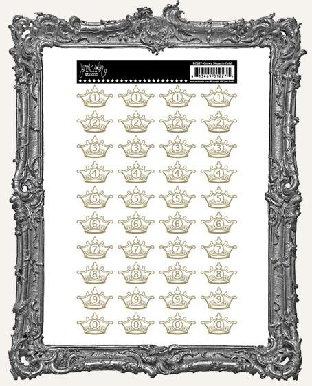 Jenni Bowlin Studio Number Crown RUB-ONS - Gold