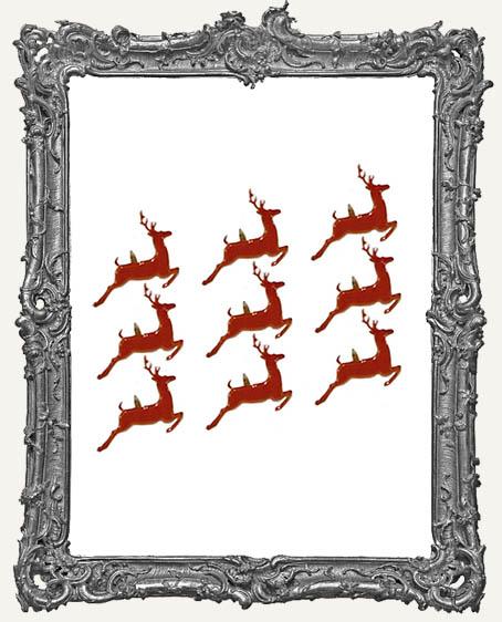 Prancing Reindeer Brads - 12 Piece