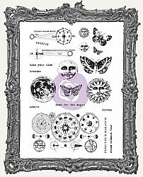 Finnabair Cling Mount Rubber Stamp Set - Dream Without Fear