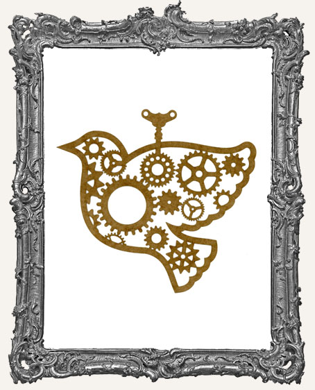 LARGE Steampunk Bird Mask Stencil