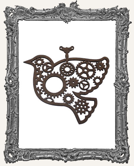 Layered Masonite Steampunk Bird Ornament