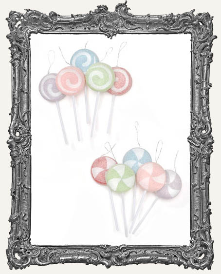 Sugared Pastel Lollipops - Set of 5