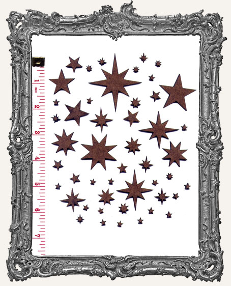 Star Mix Cut-Outs - 48 Pieces