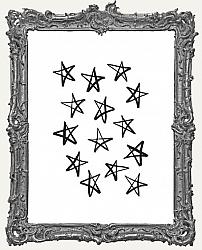 Cling Mounted Rubber Stamp - Sketchy Stars