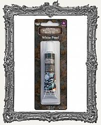 Finnabair - Art Alchemy Metallique Wax - Tube Packaging - White Pearl