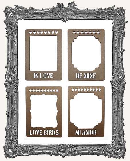 Layered Chipboard ATC Frame Set - In Love