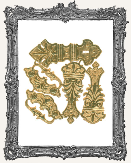 German Dresden Antique Gold Hardware