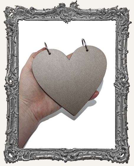 Chipboard Heart Book Kit