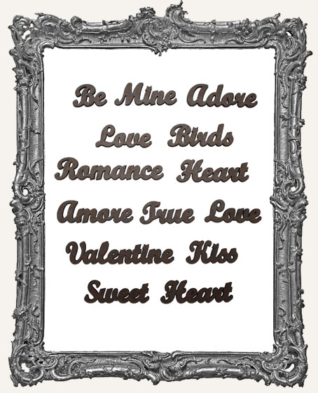 Valentine Word Cut-Outs - 14 Pieces