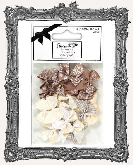 Papermania Lincoln Linen Ribbon Bows 20 Pieces