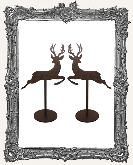 Reindeer Sticks Stand Ups Set of Two - Style 1