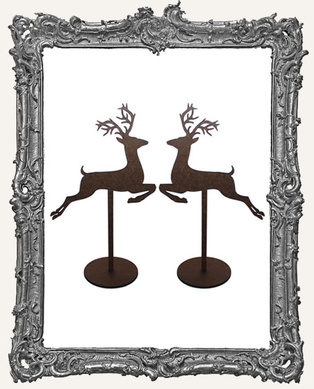 Reindeer Sticks Stand Ups Set of Two - Style 2