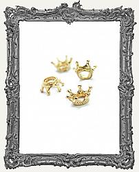 Tiny Gold 3-D Crowns - Set of 4