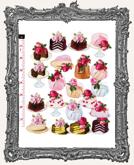 20 Rosey Cakes Paper Cuts