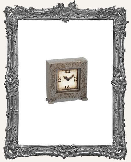 Miniature Resin Clock - Grey