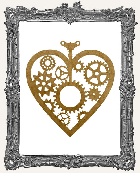 LARGE Steampunk Heart Mask Stencil