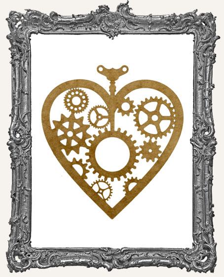 LARGE Steampunk Heart Mask Stencil
