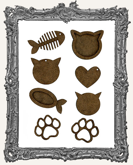 Cat Trinket Cut-Outs - 8 Pieces