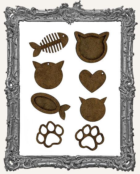 Cat Trinket Cut-Outs - 8 Pieces