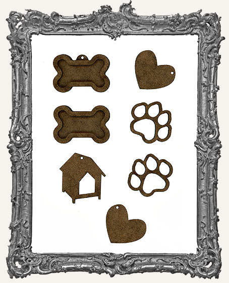 Dog Trinket Cut-Outs - 7 Pieces